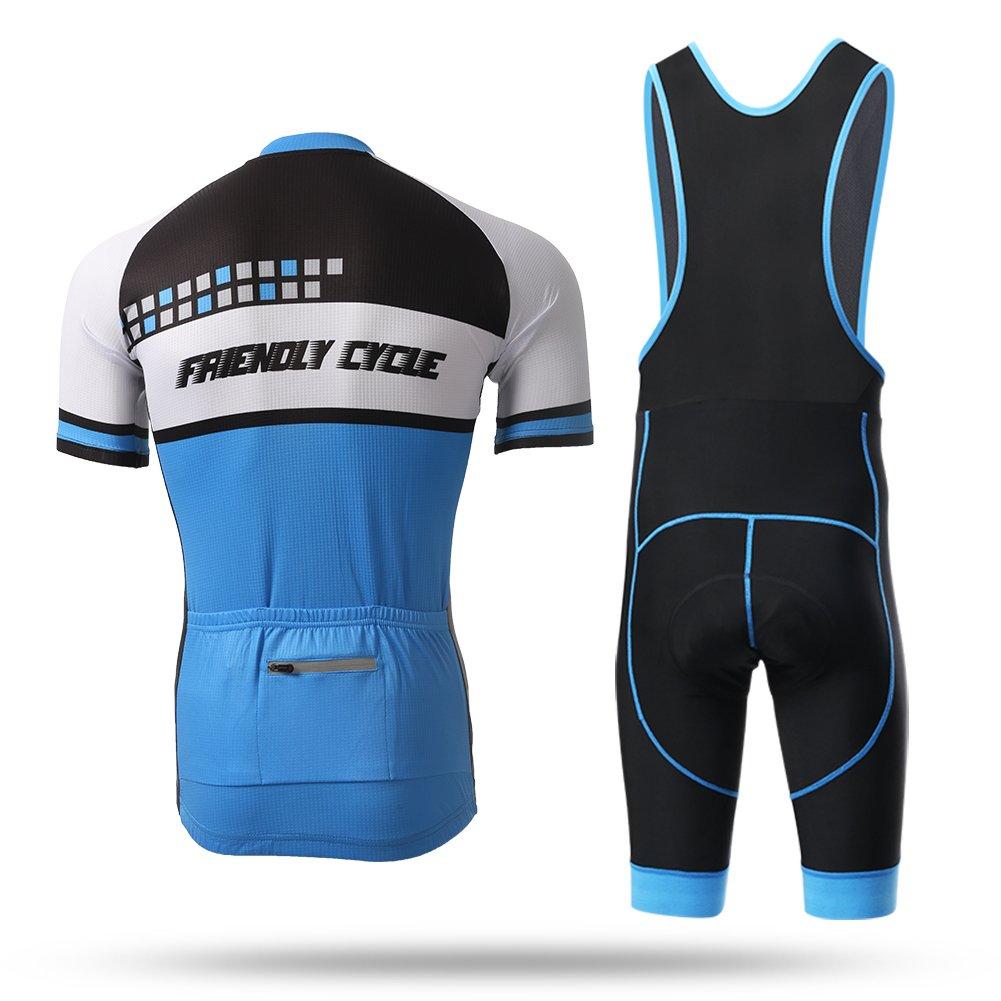 Amazon.com   Xintow Men s Cycling Jersey Short Sleeve Bicicleta Bike Cycle  Maillot Shirt Outdoor Sports Bib Shorts Racing Clothing Wear Suit D3016    Sports ... 2bda8dd5b