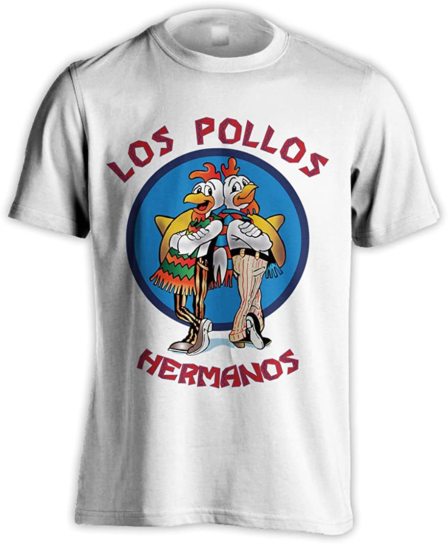 MUSH Canotta Los Pollos Hermanos Breaking Bad Uomo-L-Bianca Film by Dress Your Style