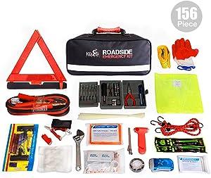 Kolo Sports Roadside Emergency Kit 156-Piece Multipurpose Emergency Pack