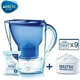 Brita德国技术碧然德滤水壶 Marella XL 3.5L 一壶十芯(蓝色)(包含壶内自带滤芯及包装盒内滤芯) …