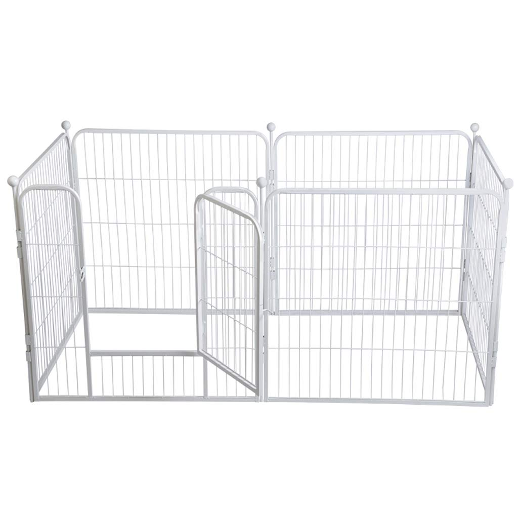 Folding 6 Panel Pet Gate Wooden Foldable Dog Fence Indoor Free Standing Safety Gate Portable Separation Pet Barrier Guard-80  80cm-6 Pieces