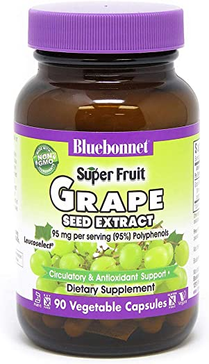 BlueBonnet Super Fruit Grape Seed Extract Supplement, 90 Count