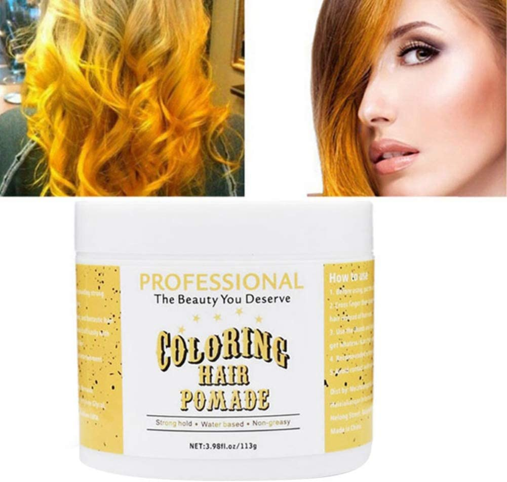 Fairylove Disposable Hair Dye No Damage Hair Wax Natural Hair Cream Long Lasting Hair Gels Hair Styling Wax Hair Mud Yellow Purple Green Blue Grey Amazon Co Uk Beauty