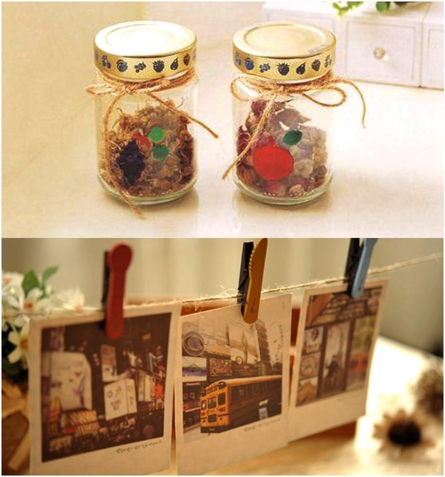 boda libros y otra decoraci/ón del arte ATPWONZ Natural Yute cuerda de c/á/ñamo enrollado 90m -100m ideal para regalos jarrones