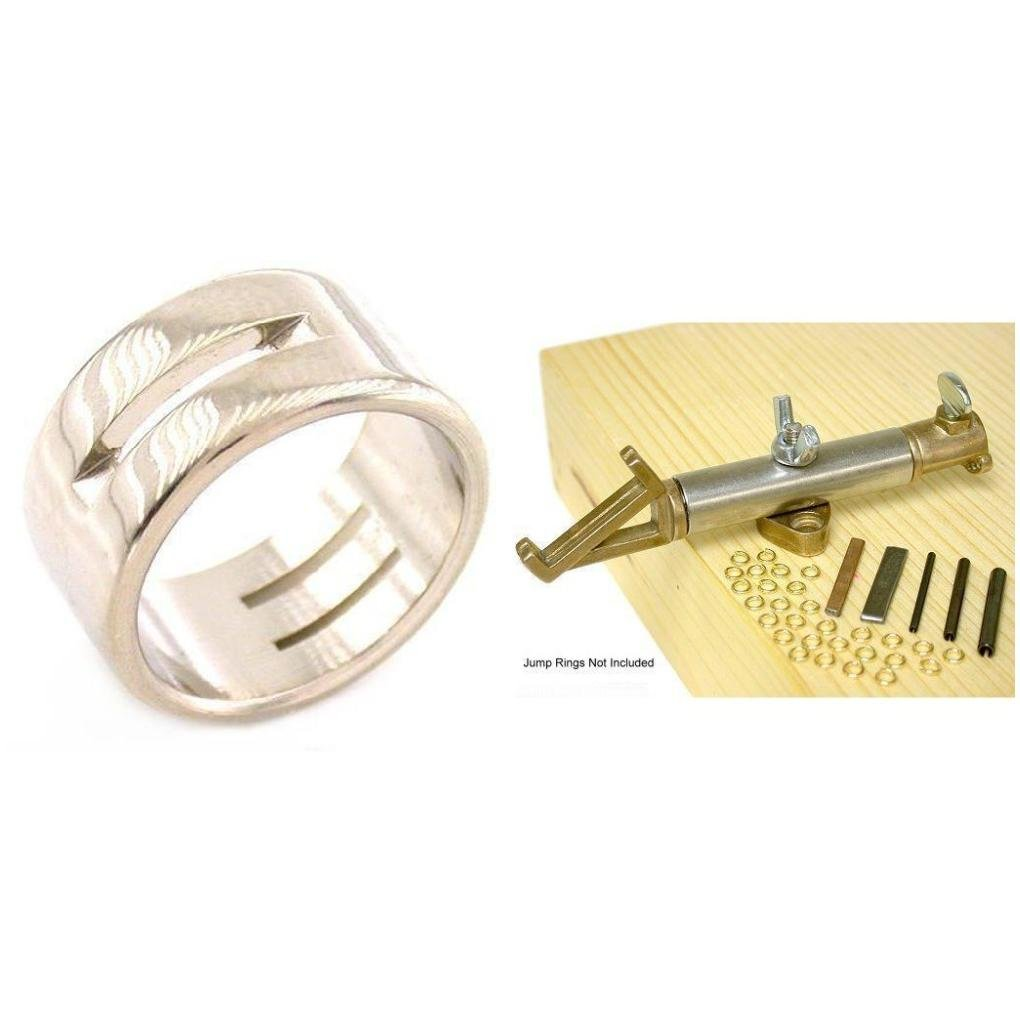 Stainless Steel Linking Ring & Jiffy Jump Ring Maker Jewelers Tools Kit 2 Pcs by FindingKing