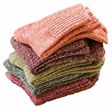 Holisouse Women's 5-Pairs Casual Vintage Style Winter Thick Knit Wool Warm Soft Crew Socks