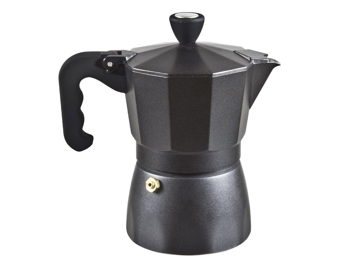 BEPER Kaffeebereiter für 3 Tassen, Unkown, Schwarz, 13,5 x 9,5 x 18,2 cm