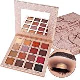 Prettyuk 16 Colors Eye Shadow Matte Shimmer Waterproof Durable Eyeshadow Palette