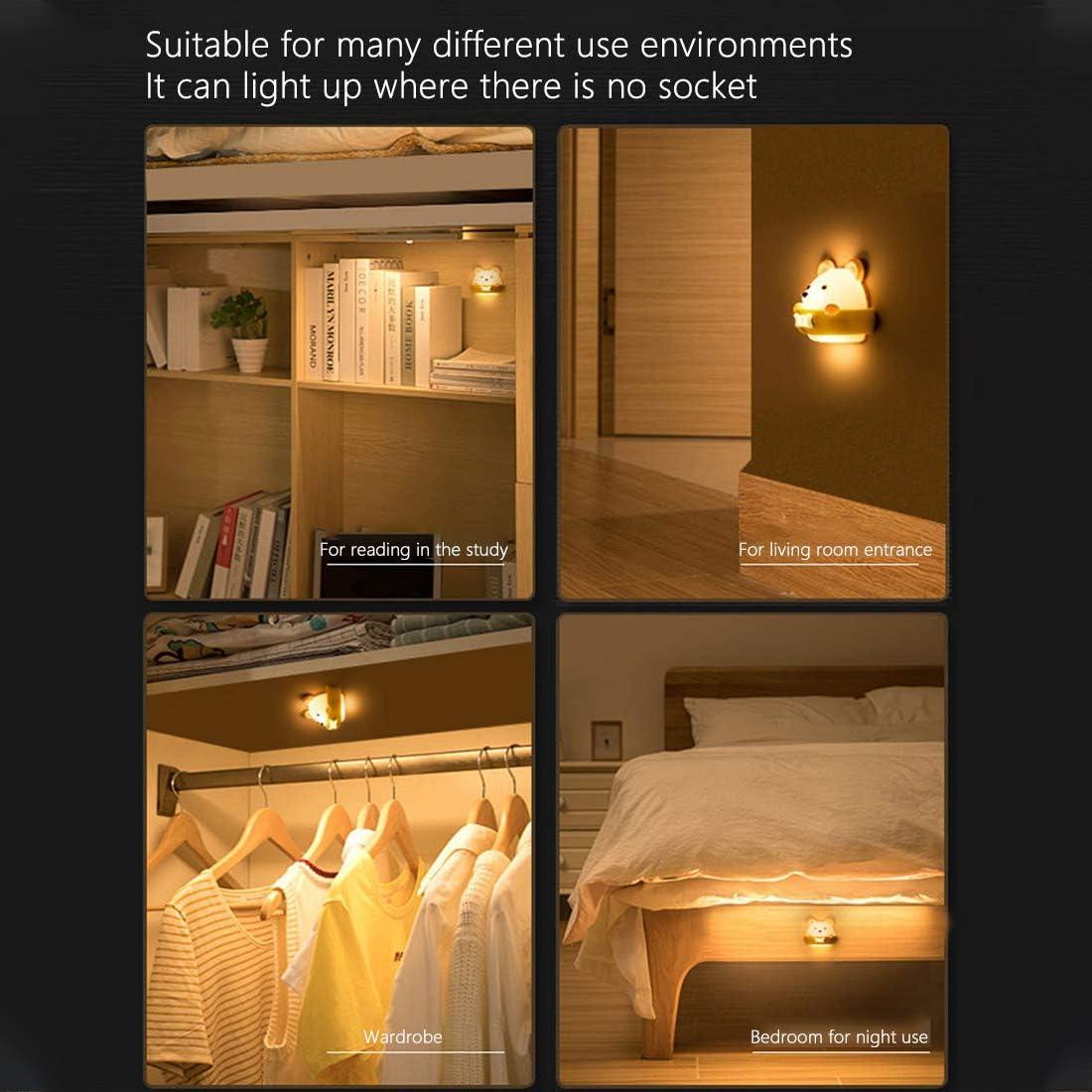 Luz de Noche de Oso para Ni/ños L/ámpara Nocturna Port/átil y Recargable USB Luz Amarilla Dormir y Relajarse Yolistar Luz Nocturna para Los Ni/ños Luz Nocturna en el Dormitorio del Beb/é para Leer
