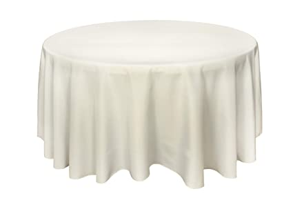 GEFEII Kitchen Tablecloth 90 Inch Round Tablecloths Solid Polyester Table  Cloth For Wedding Party Restaurant Banquet