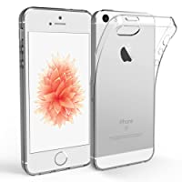 Coque IPHONE 5S / 5 / SE, [ ULTRA TRANSPARENTE SILICONE EN GEL TPU SOUPLE ] Housse Etui Coque de Protection avec Absorption de Choc et Anti-Scratch pour IPHONE SE / 5S / 5 …