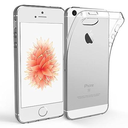 Carcasa iPhone 5S/5/SE, NEWC® [Ultra transparente silicona ...