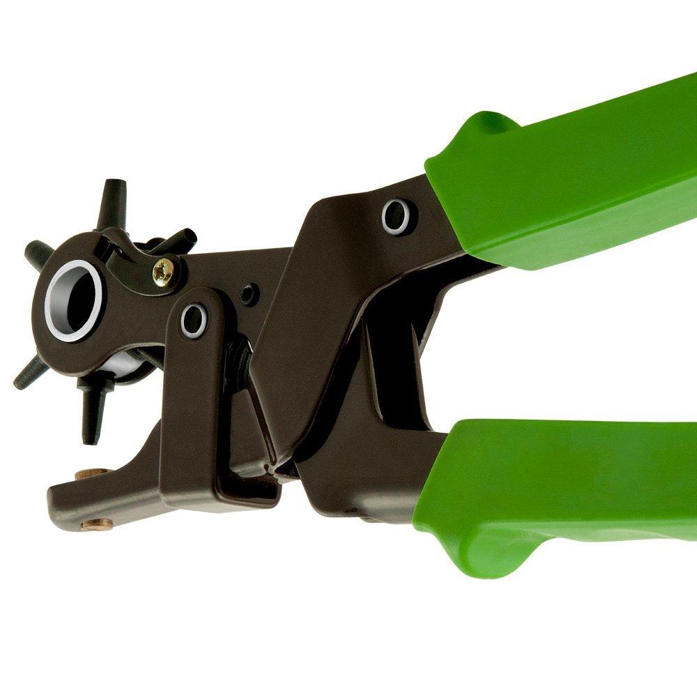 Monzana Lochzange Hebel/übersetzung Lochpfeifen 2-4,5 mm Revolverlochzange G/ürtelzange /Ösenzange Stanzeisen Leder