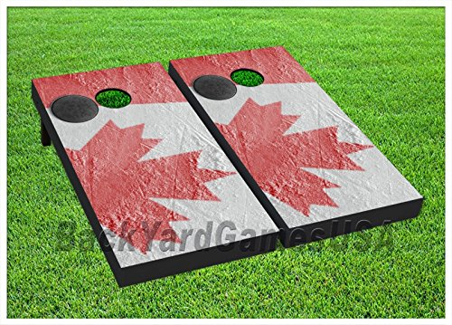 Canada Flag Ice Rink Cornhole Boards Beanbag Toss Game W Bags Hockey Puck St 355 (Cornhole Bags Canada compare prices)
