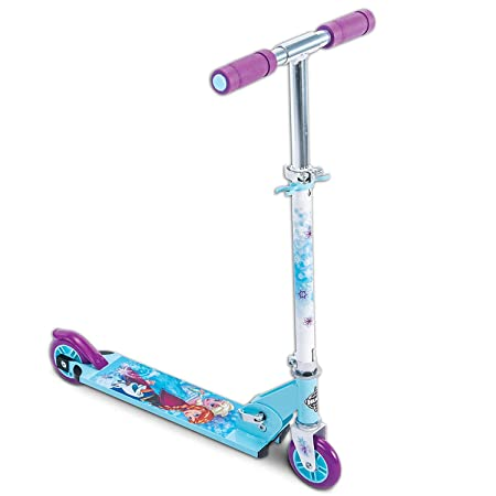 Disney Frozen Girls 2-Wheel Inline Folding Scooter, by Huffy