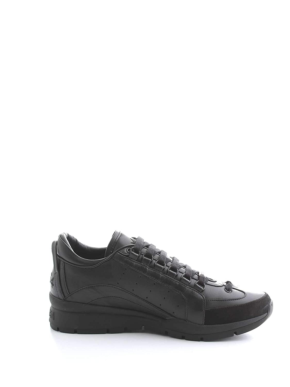 - DSQUARED2 Men's SNM040406500001M084 Black Leather Sneakers