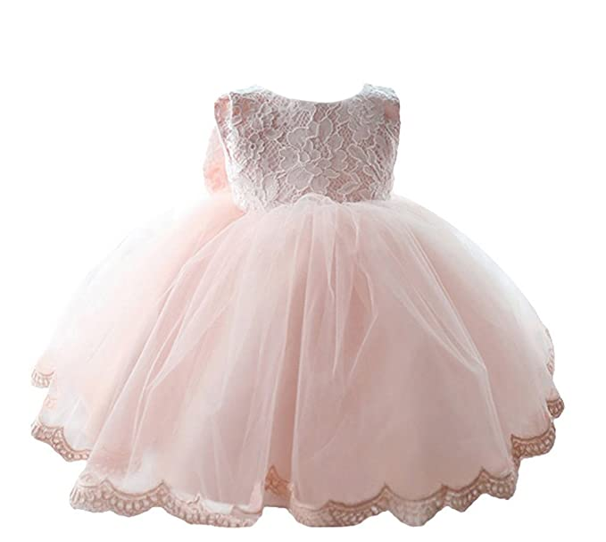 4dadf127a Happy Cherry Baby Girls Wedding Gown Formal Pageant Tulle Bowknot Princess  Full Dress Size 3M -