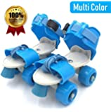Farraige® Latest Design Roller Skates for Kids Age Group 6-12 Years Adjustable Inline Skating Shoes (Multi Color)
