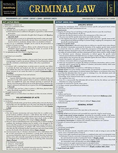 Criminal Law (Quickstudy Law)