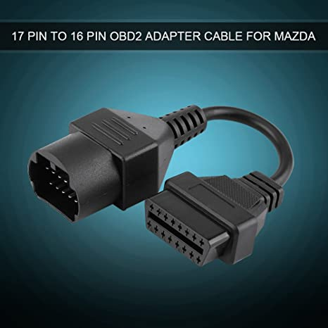 17-pin to 16-pin OBD2 Adapter Connector Acouto Automotive Diagnostic Scanner Cable