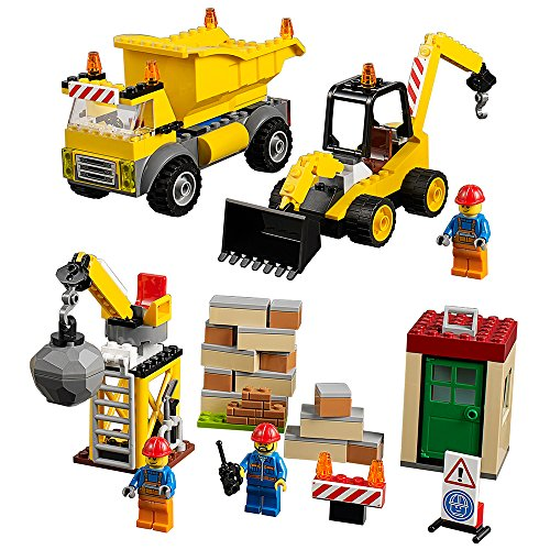 LEGO Juniors Demolition Site 10734 Toy for 4-Year-Olds (Building Crane Lego City)