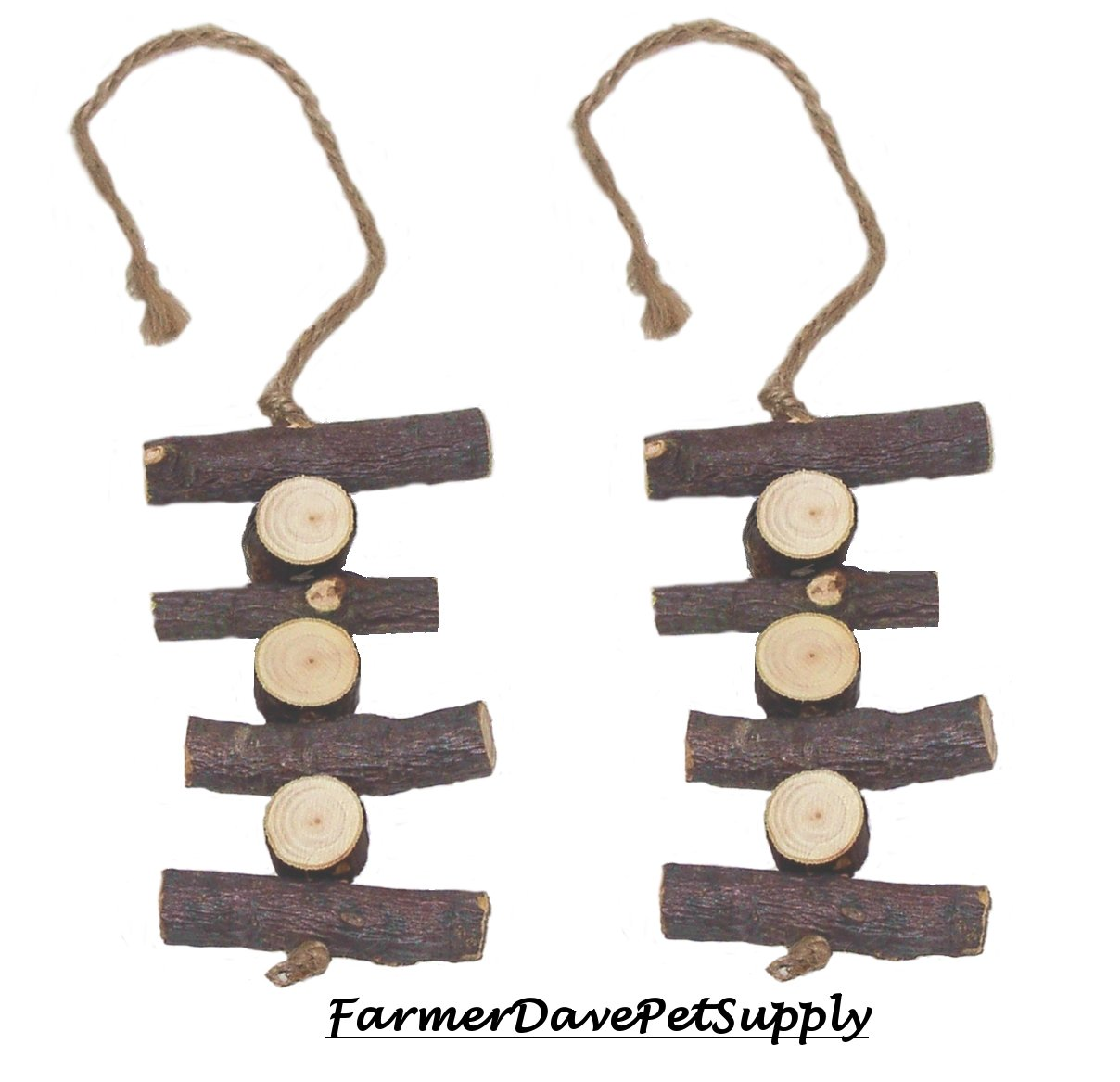 FarmerDavePetSupply Organic Apple Chew Toy for Small Animals - Dual Pack