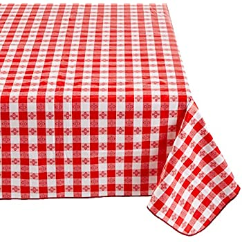 Awesome Winco TBCO 90R Checkered Table Cloth, 52 Inch X 90 Inch,
