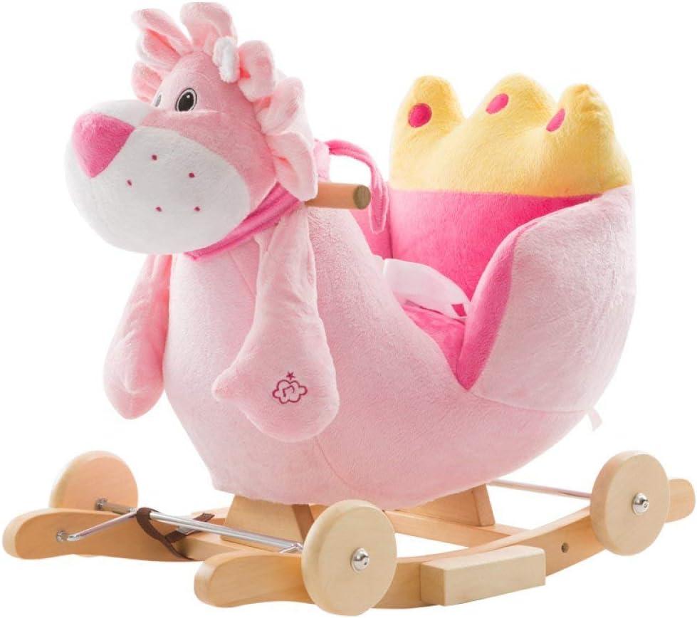 Patines de madera del caballo de oscilación 2 en 1 felpa con la rueda del niño del bebé for 1-4years Los niños y niñas lindo del niño del asiento del animal relleno del Presidente del niño Rocker Rock