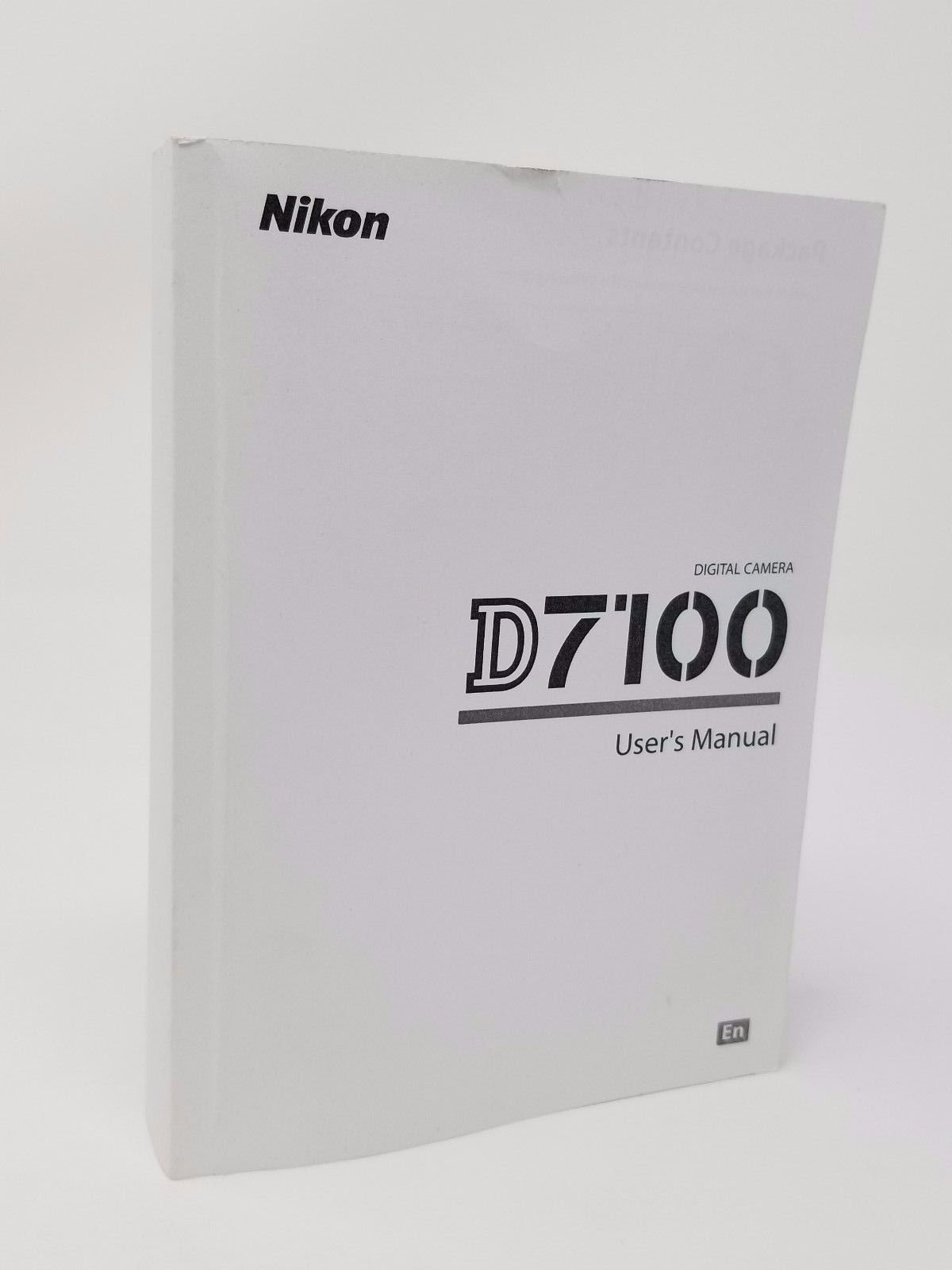 Nikon D7100 Digital Camera User's Instruction Manual