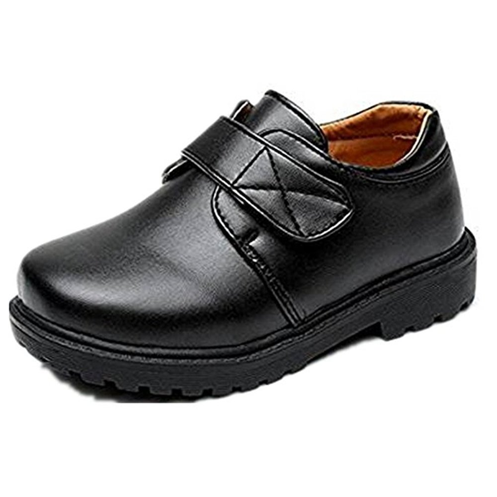 YING LAN Boy's Girl's School Uniform Loafer Oxford Dress Shoe (Toddler/Little Kid) Black 3 37
