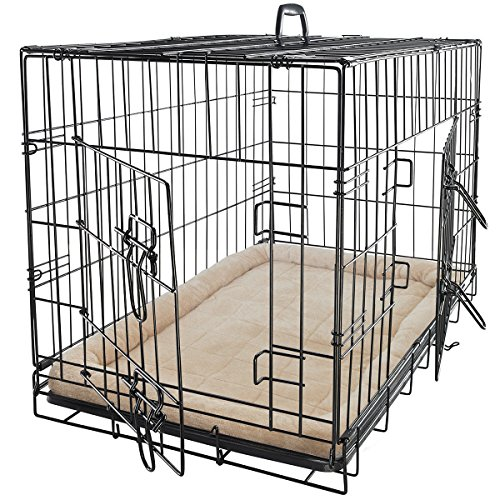 Cage Cat Cage General (OxGo Pet Dog Cat Cage Crate Kennel and Bed Cushion Warm Soft Cozy House X-Large)