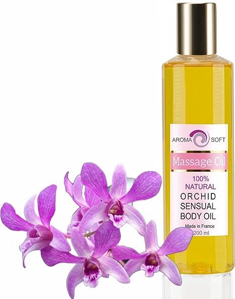 Aceite de Masaje Sensual Orquídea 100% Natural - Relajación y Después del baño 200 ml