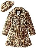 Widgeon Big Girls' Twirly Bottom Coat With Hat, Amur Leopard, 12