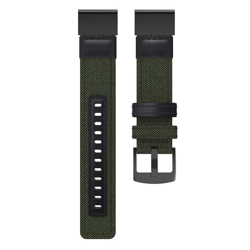 Molyveva Woven Nylon Sweatproof Watch Band Strap for Garmin Fenix 5/5 Plus/Forerunner 935