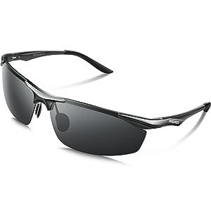 PAERDE サングラス メンズ 偏光レンズ uvカット 紫外線カット 軽量 運転 釣り スポーツ テニス アルミニウム・マグネシウム合金 PA01…
