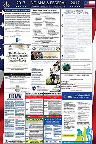 2017 Indiana and Federal Labor Law Poster Laminated