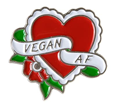 Sourpuss Vegan A.F. Enamel Pin