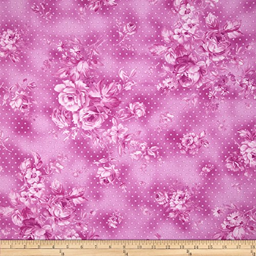 Zoey Christine Morning Dew Wild Orchid Fabric