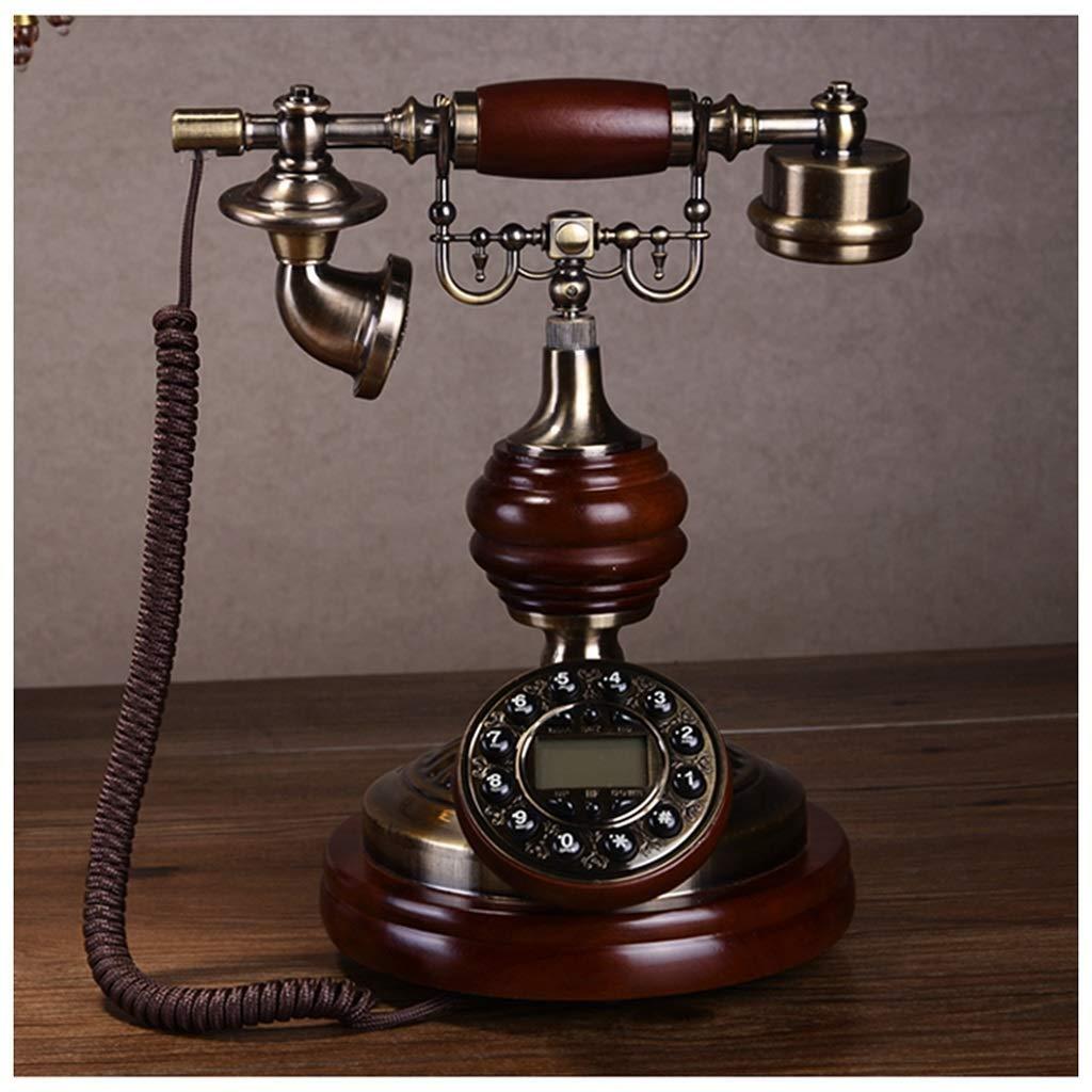 Telephones Fashion Creative Leather Rope Cloth Hands-Free Caller ID Home Phone Antique Single Double Ringtones European American Retro Home Landline Retro Phone (Size : B)