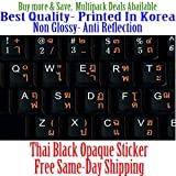 Personal Computer - Thai English Non Transparent Black Background Keyboard Computer Stickers