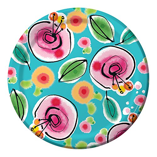 (Creative Converting Kathy Davis 8 Count Sturdy Style Banquet Plate, 10
