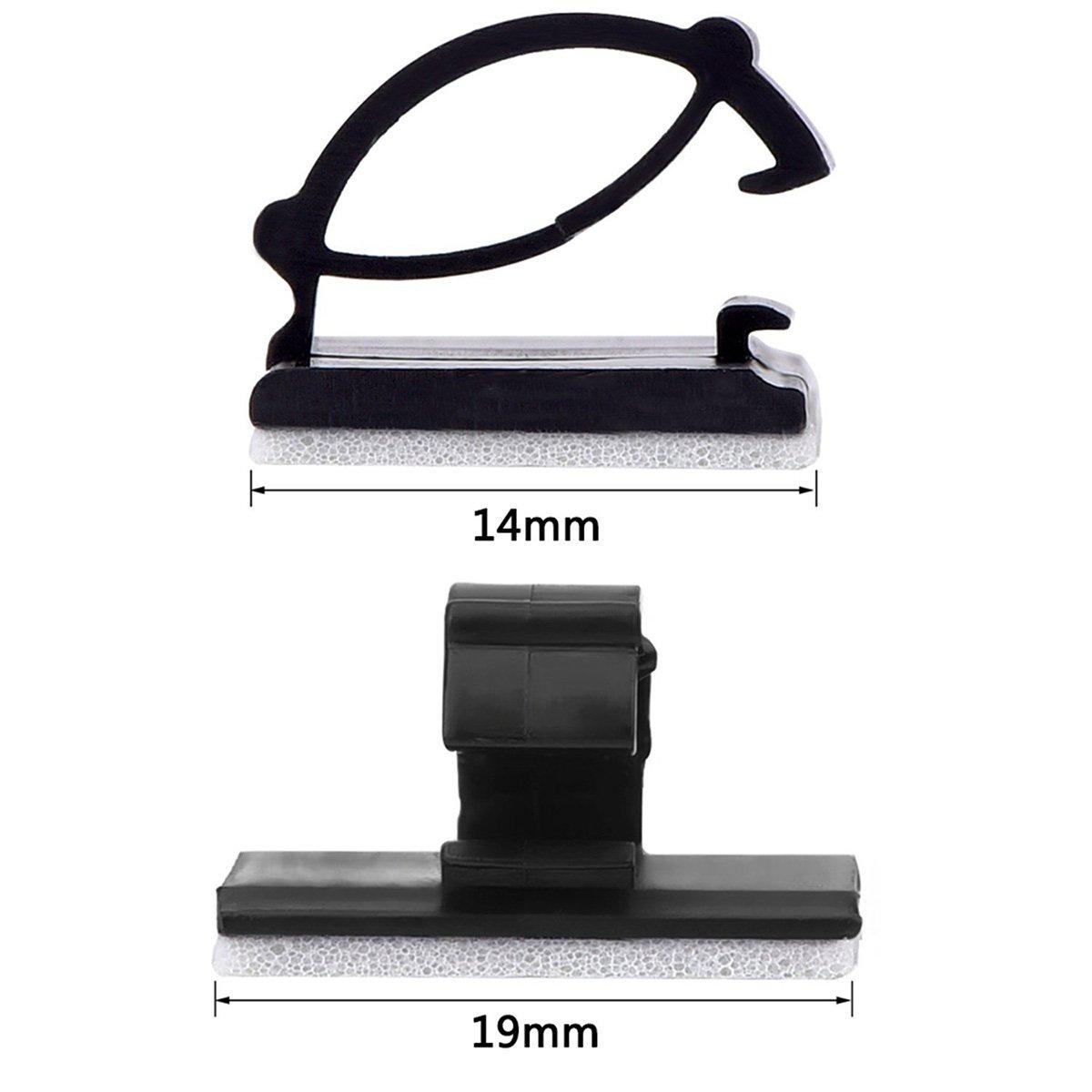 BESTOMZ 100 Stück selbstklebende Kabelclips Drop Kabelhalter ...