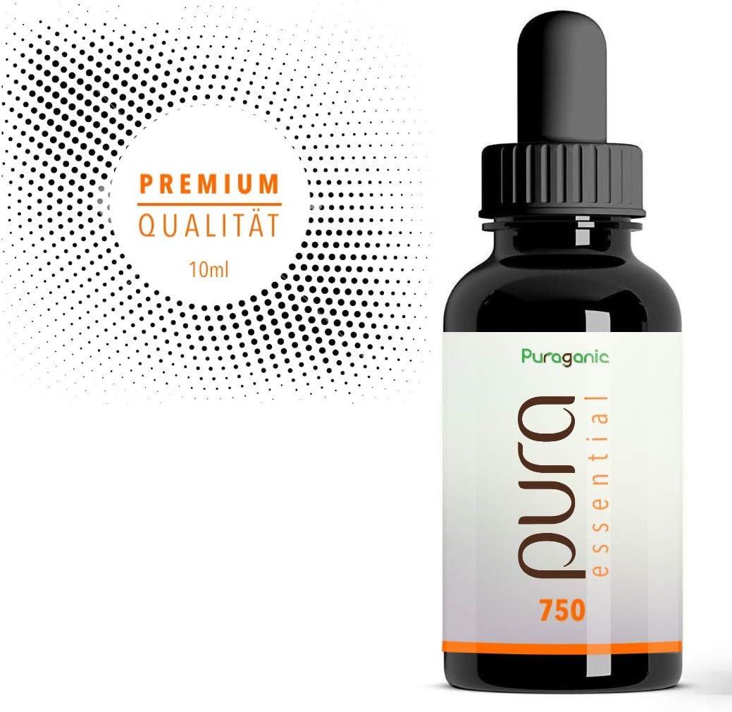 Gotas de Aceite de Cáñamo Puraganic 7.5 | Hemp Oil Drops, Extracción de CO2, 100% Natural, 10 ml