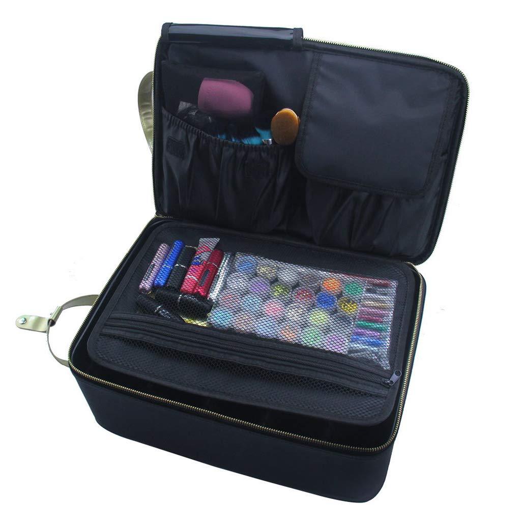 Makeup Case Portable Large Storage Bag Beauty Make Up Jewelry Brush Cosmetics Shoulder Box Nail Bedroom Travel Desktop Storage