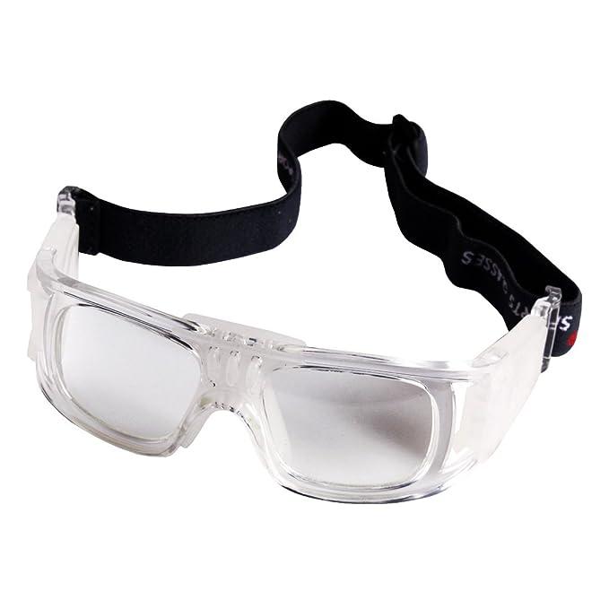 4ddedc030d Andux Baloncesto Fútbol Fútbol Deportes Gafas protectoras gafas Gafas de seguridad  LQYJ-01 (Blanco): Amazon.es: Deportes y aire libre