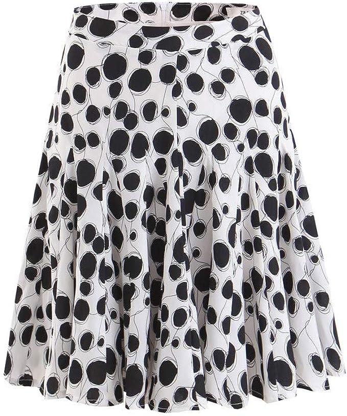 beautyjourney Faldas Vintage de una línea de Mujer Falda Plisada ...