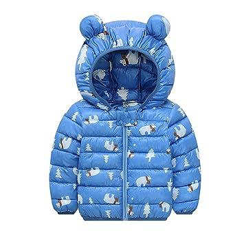 URSING Jacke Mäntel Mädchen Winter Kinder Winterjacke Jungen TFK3cJl1