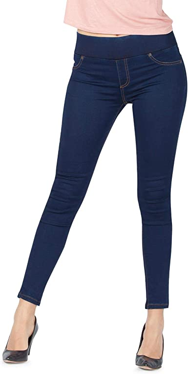 Womens Ladies Skinny Fit Zipped Up Pocket Trousers Legging Denim Jeans Jeggings