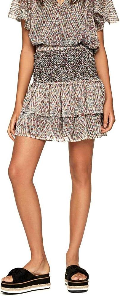 Pepe Jeans Minifalda Estampada Paula para Mujer x-Small: Amazon.es ...