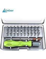 LinGear Precision Screwdriver Set,32 in 1 Mini Driver Kit Electronics Repair Tool for PC, Laptop, Tablet, PDA, Mobile Phone, Glasses, Watch, Cameras, MacBook.